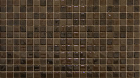 Brown mosaic tiles. For decoration Royalty Free Stock Images