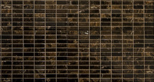 Brown mosaic tiles. For interior Royalty Free Stock Photos