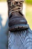 Brown mountain boot Royalty Free Stock Photos