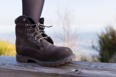 Brown mountain boot Stock Image