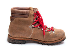 Brown mountain boots Royalty Free Stock Photos