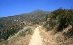 Brown Mountain Fire Road. Road up a steep hillside near Brown Mountain, southern California Stock Photos