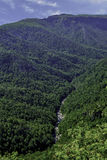 Brown Mountain lookout in North Carolina royalty free stock photography