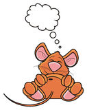 Brown mouse is asleep and about something dreams Stock Image