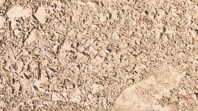 Brown mud on the street Royalty Free Stock Photography