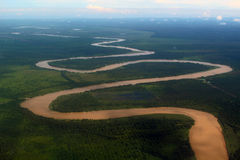 Brown muddy river Borneo Royalty Free Stock Images