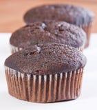 Brown muffiner Arkivbild