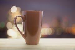 Brown mug of coffee Royalty Free Stock Photography