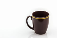 Brown mug from coffee. Stock Images