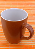 Brown mug Stock Photo