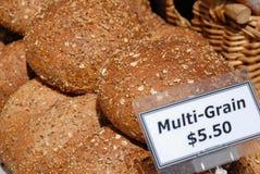 Brown multi-grain bread Stock Photos
