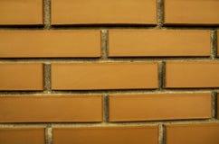 Brown, mur de briques, une partie de la maison image stock