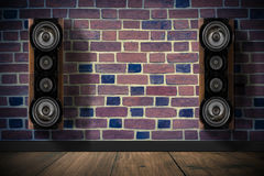 Brown music speakers Royalty Free Stock Images