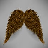 Brown Mustache Stock Image