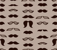Brown mustache pattern Royalty Free Stock Photos