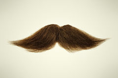 Brown mustache on a sepia background Royalty Free Stock Photos