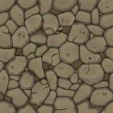 Brown-nahtloser Steinhintergrund lizenzfreie abbildung
