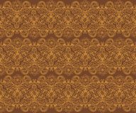 Brown-nahtloses Blumenmuster Lizenzfreie Stockbilder