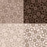 Brown-nahtloses Muster Stock Abbildung