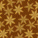Brown-nahtloses Muster Stockfotografie