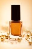 Brown nail polish Royalty Free Stock Photo
