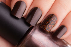 Brown nails . stock image