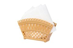 Brown napkin holder isolated on white Royalty Free Stock Image