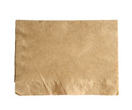 Brown napkin isolate on white (clipping path) Stock Photo
