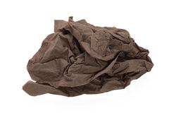 Brown napkin paper ball Royalty Free Stock Images