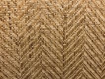 Brown natural colour weave bamboo mat. Using for background Royalty Free Stock Images