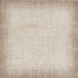 Brown natural linen texture for the background.  Royalty Free Stock Image