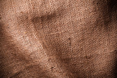 Brown natural linen texture Stock Image