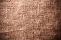 Brown natural linen texture Royalty Free Stock Images