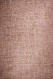 Brown natural linen texture. Closeup of brown natural linen Royalty Free Stock Photos