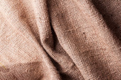 Brown natural linen texture Royalty Free Stock Photo
