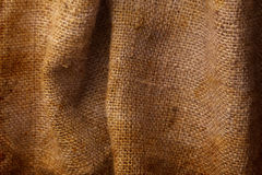 Brown natural linen texture Stock Image