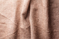 Brown natural linen texture Royalty Free Stock Photography