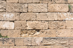 Brown natural stone wall Stock Photo