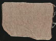 Brown naturalna prosta prostacka bieliźniana tkanina - kanwa Brown burlap tkaniny tła tekstura obraz stock