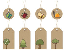 Brown nature tags Royalty Free Stock Photos