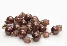 Brown necklace Stock Photo