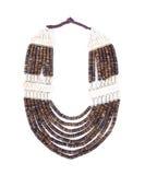 Brown necklace Stock Photos