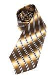 Brown necktie Stock Images