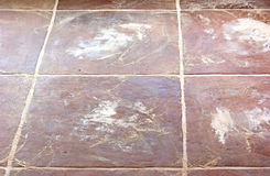 Brown new-laid dirty tiles royalty free stock images