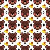 Brown niedźwiedzia wzór Obraz Royalty Free