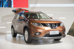 Brown nissan x-trail car Stock Image