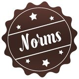 Brown NORMS stamp on white background. Royalty Free Stock Image