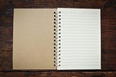 Brown notatnik Zdjęcie Royalty Free