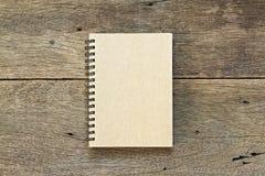 Brown notatnik Zdjęcia Royalty Free
