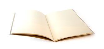 Brown notatnik otwierający odizolowywającym Zdjęcie Royalty Free